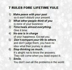 Seven rules