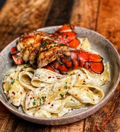 Lobster and pasta. You are going to love the smokiness grilling lends to this grilled lobster tail pasta. Seafood Pasta, Seafood Dishes, Fish And Seafood, Pasta Dishes, Lobster Pasta, Seafood Alfredo, Lobster Tail Pasta Recipe, Lobster Tail Recipes, Grilled Lobster Recipes