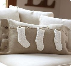 knit stocking lumbar pillow cover from Pottery Barn @Becky Hodgson