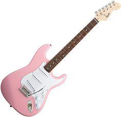Fender Squier Bullet Stratocaster Electric Guitar w/Tremolo - Pink Finish #guitars #interstatemusic