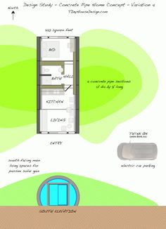 tiny house design, earth sheltered
