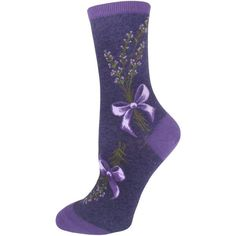 Sprigs of lavender flowers are tied with ribbon bows on ModSocks' heather purple crew socks. Fun Socks For Kids, Cool Kids, Lavender Tie, Lavender Flowers, Food Socks, Women's Socks, Purple Plants, Unique Socks, Crazy Socks