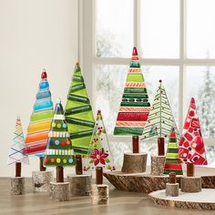 -Christmas Trees by Terry Gomien. These vibrant holiday trees are fancifully deta… Christmas Trees by Terry Gomien. These vibrant holiday trees are fancifully detailed in fused glass, then mounted on disks cut from real. Glass Christmas Decorations, Stained Glass Christmas, Holiday Tree, Glass Christmas Ornaments, Christmas Crafts, Christmas Trees, Rainbow Christmas Tree, Christmas 2019, Glass Fusion Ideas