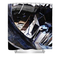 """Auto Headlight 159 Shower Curtain   $65 at http://fineartamerica.com/products/auto-headlight-159-sarah-loft-shower-curtain.html  This shower curtain is made from 100% polyester fabric and includes 12 holes at the top of the curtain for simple hanging. The total dimensions of the shower curtain are 71"""" wide x 74"""" tall."""