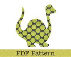 Applique Template, Dinosaur, Animal, DIY, Children, PDF Pattern by Angel Lea Designs