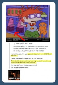 Don't you just love how there is a Doctor Who reference in ever thing?