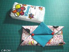 Vou postar 3 tipos de porta lenços de papel. 2 para o tipo de embalagem aberta na frente, e 1 para aquela que abre por cima. » 1.º m...