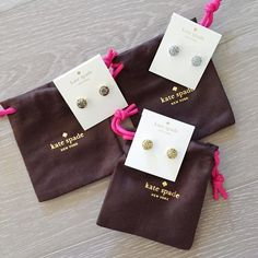 Set of 3 Kate Spade Glitter Earrings Set of all three Kate Spade Glitter Earrings - gold, silver, and multi glitter. These are small gumdrop studs. 14K gold filled posts. All NWT and comes with a Kate spade dust bag. So cute and sparkly! kate spade Jewelry Earrings