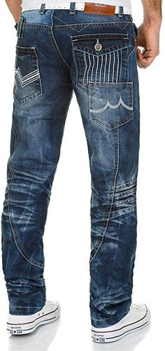 Only Faith Mens Retro Big Pocket Loose Leisure Jeans Pants