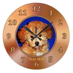 Puppy Room Ideas w/ Cute Puppy Clock or YOUR PHOTO