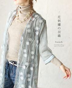 【楽天市場】「french」◎花刺繍の羽織。カーディガン 9月3日22時販売新作:cawaii