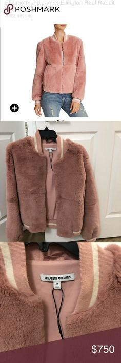 Brand new jacket made with real rabbit fur. Brand new and super soft. Very chic and stylish and a must have for the winter! Elizabeth and James Jackets & Coats