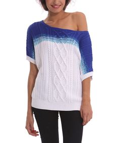 Another great find on #zulily! Medieval Blue Three Sweater by Desigual #zulilyfinds