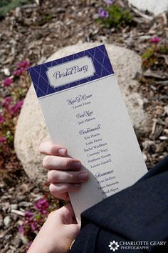 to do on back of wedding program. plus directions