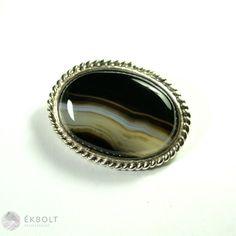 Ezüst kitűző achát kővel Gemstone Rings, Gemstones, Jewelry, Jewlery, Gems, Jewerly, Schmuck, Jewels, Jewelery