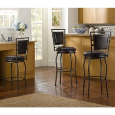 Linon Townsend 3-piece Adjustable Stool Set | Overstock™ Shopping - Great Deals on Linon Bar Stools