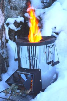 Survival Rocket Stove | Backpacking Stove | Portable Wood Stove http://www.silverfire.us/page_10_1/silverfire-survivor-rocket-stove