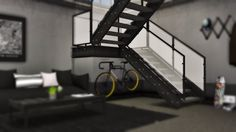Industrial stairs decor for The Sims 4