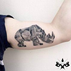 Crystal Rhino Tattoo by aleromeo_tattoo
