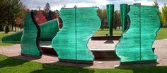 Presence of Seven Danny Lane 2002 Glass, stainless steel H570 x Diam 2800cm Allegheny College, Pennsylvania, USA www.dannylane.co.uk