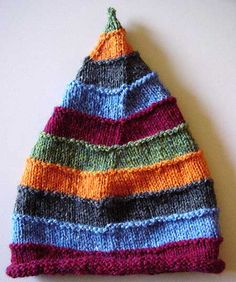 use up the yarn scrap hat