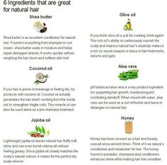 Natural hair ingredients