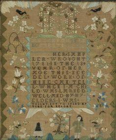Hannan Phippen Schoolgirl Needlework Sampler