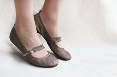 Chocolate Twist  Handmade Leather Ballet by TheDrifterLeather, €72.00