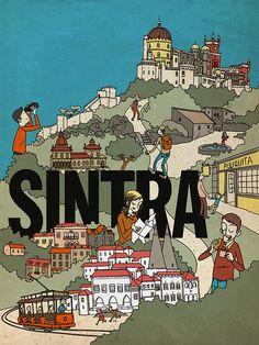 Timeout Lisbon - Cover Illustration 2011 by Pedro Brito Illustration, via Flickr