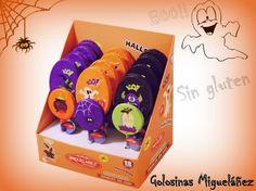 Halloween, fantasma, cacerolas, golosinas, migueláñez, tumbaas, arañas, monsturos, sin gluten, piruletas, chocolate
