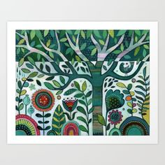 Leafy Garden by Janet Broxon, $16. https://society6.com/product/leafy-garden_print?curator=bestreeartdesigns