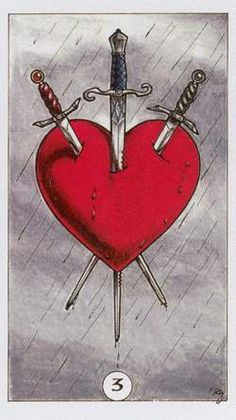 3 of swords #tarot - the Robin Wood deck