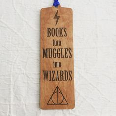 Items similar to Engraved Wood Bookmark - From Real Wood for the Reading Lover - Harry Potter on Etsy Creative Bookmarks, Diy Bookmarks, Ribbon Bookmarks, Bookmark Ideas, Cute Mobile Wallpapers, Wood Burning Tips, Doodle Art For Beginners, Harry Potter Bookmark, Harry Potter Accessories