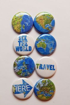 Maps Flair by aflairforbuttons on Etsy, $6.00  #flair #flairbuttons