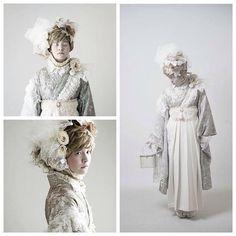 「White heir make coordinate 全てがオリジナル。  #二十歳振袖館Az#卒業袴#kimono#卒業式 @Az_mens @Az_wamodern @Az_kimono」