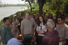 Suitably attired: The Duke and Duchess were both dressed casually for their trip to the pa...