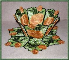 Lace Bowl & Doily  Watercolor Roses Roses are always in good taste. This bowl would be the perfect gift for Birthdays, Mothers Day - any Holiday. The roses are done in two shades of apricot so it is easy to change the color to create any color roses you want - just pick two shades of another color.