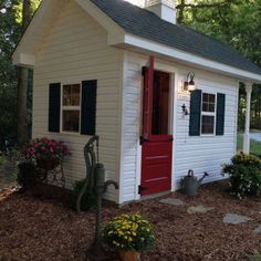 adorable backyard shed but would be so cute as a playhouse or even a chicken coop house stuff pinterest cabin playhouses and outdoor spaces