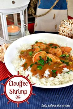 Etouffee Shrimp isa spicy and delicious Cajun stew served on a bed of rice. The gravy is rich in flavor with a kick that hits you at the back of your thr