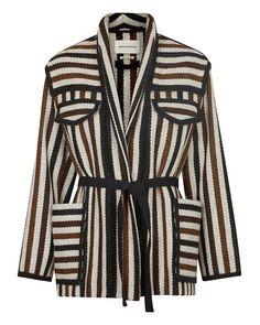 Étoile Isabel Marant   Brown Breeda Striped Wool Blend Jacket   Lyst