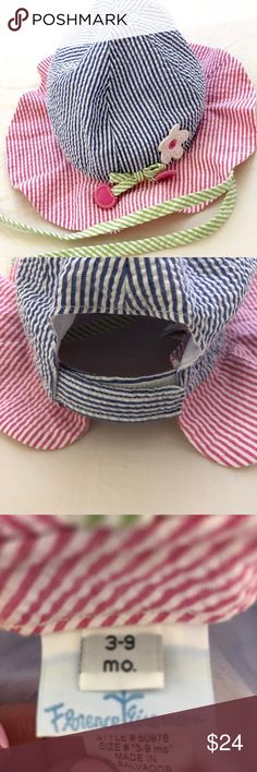 FLORENCE EISEMAN BABY INFANT GIRL HAT 3-9 month Adorable hat in good preowned condition.  Cotton.  3-9 month size.  Velcro closure. Florence Eiseman Accessories Hats