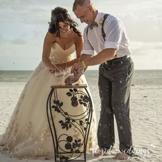 A sand ceremony is a beautiful addition to your beach wedding. The bride and groom mix the sand and it can never be separated again. . . . #beachwedding #wedding #destinationwedding #bride #weddings #weddingday #love #weddingplanner #weddinginspiration #weddingphotography #beach #dreamwedding #weddingphotographer #engaged #groom #outdoorwedding #weddingdestination #weddingseason #weddingideas #weddinginspo #ido #floridaweddings