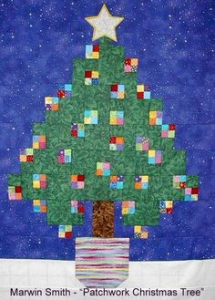 Patchwork Christmas Tree by Marwin Smith.  Quilters of Alachua County Day Guild (Florida).