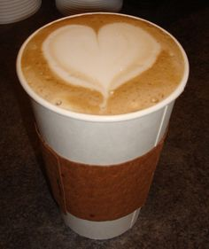 Valentine's Day idea! Heart latte art!