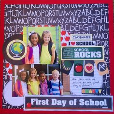 It's that time of year!!  This layout uses our new Back to School line!!