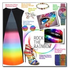 """Rainbow Style"" by court8434 ❤ liked on Polyvore featuring SHOUROUK, Matthew Williamson, Ippolita, Christian Louboutin, women's clothing, women, female, woman, misses and juniors"