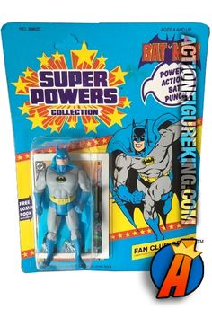 Vintage Kenner Super Powers 4.5-inch BATMAN action figure. #kenner #superpowers #justiceleague #dccomics #batman Visit our website for full line of KENNER collectibles and figures including pricing and availability.