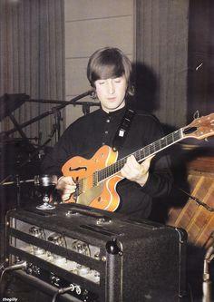John Lennon during Revolver sessions