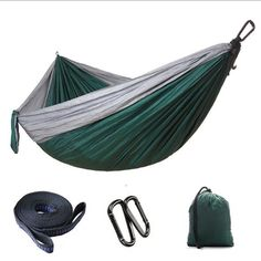 1 or 2 people portable parachute hammock camping survival garden hunting leisure travel double person hammocks outdoor double hammock portable parachute cloth 2 person hamaca      rh   pinterest