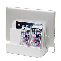GreatUsefulStuff - New Colors! High Gloss Multi-Charging Station, $49.99 (http://www.greatusefulstuff.com/all-tech-storage/new-colors-high-gloss-multi-charging-station/)